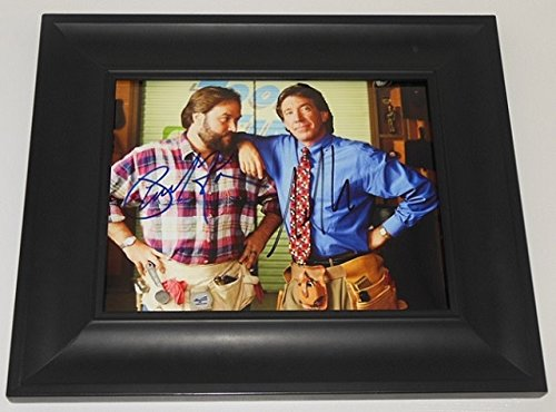 Home Improvement Tool Time Tim Allen Richard Karn Hand Signed Autographed 8x10 Glossy Photo Gallery Framed Loa