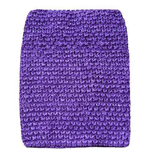 KADIWOW Crochet Tutu Tops for Kids (6 INCH, Purple) (Dress Girls Crocheted)