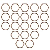20 Pcs 1/2'' Copper BSPT Pipe Thread Hexagonal Nut Tube Connector Fixing Joint