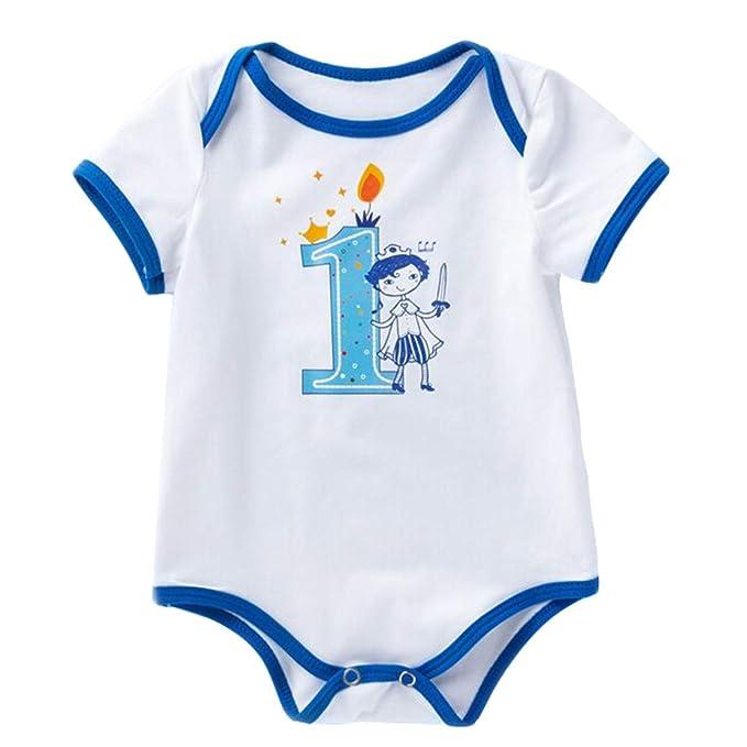 Wetry - Cumpleaños Un Año Bebe Niños y Niñas, Body 1er ...