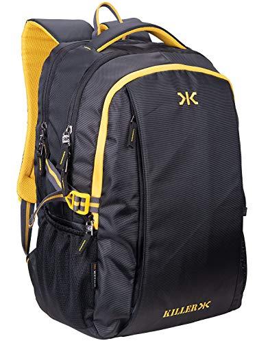 Killer Black Polyester Backpack – Checkers 29 LTR Office Laptop Backpack