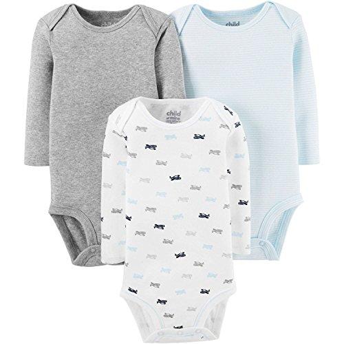 Child Of Mine By Carter's Newborn Baby Boy Long Sleeve Bodysuits (18 Months)