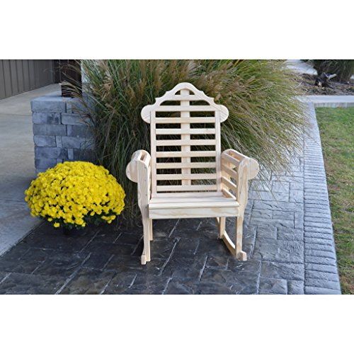 A & L Furniture Co. Yellow Pine Marlboro Porch Rocker