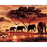 5D Full Drill Diamond Painting,Jchen(TM) Home Decorations Craft Elephant Dog Flower 5D DIY Diamond Painting Kit Pasted DIY Diamond Painting Cross Stitch (Elephant: 40x30cm)