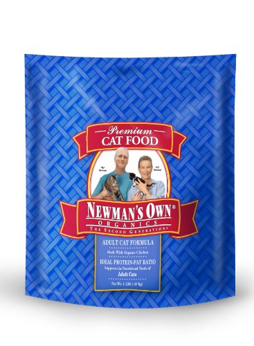 Newman's Own Organics Adult Cat Food, Chicken and Rice Dry Formula, 1 Pound, My Pet Supplies