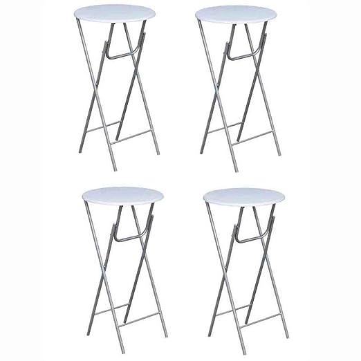 yorten 4 Unidades Mesas de Bar Altas Plegables 60 x 60 x 112 cm ...
