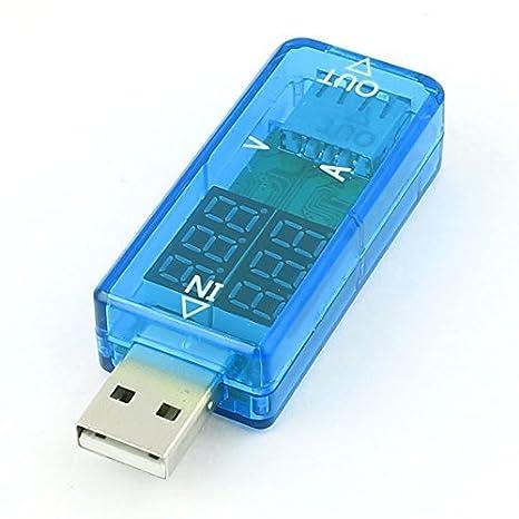 Detector de corriente USB del cargador LED del metro del voltaje de corriente móvil Tester: Amazon.es: Electrónica