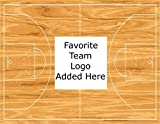 Basketball Court Pick Your Team Logo Edible Frosting Image 1/2 sheet Cake Topper