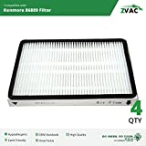 Kenmore 86889 EF-1 Exhaust HEPA Vacuum Filters - 4 Pack - Similar to Kenmore Part# 86889 or 20-86889, 40324, EF1 & Panasonic Part # MC-V199H or MCV199H- Made by ZVac