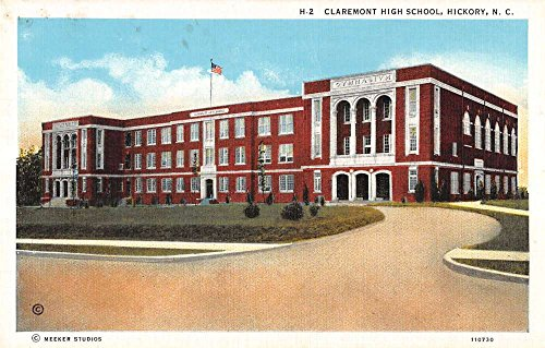 Hickory North Carolina birds eye view Claremont Hight School antique pc Y11348 (Carolina North Hickory)