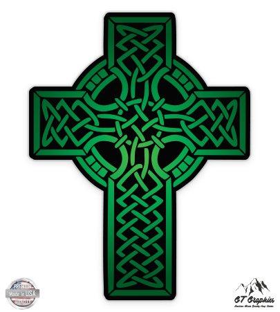 Green Celtic Cross - 3