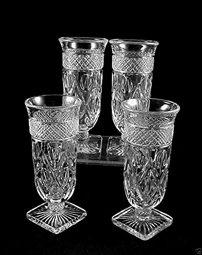 Set of 4 Imperial Glass Cape Cod Crystal Parfait Glasses