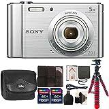 Cheap Sony Cyber-shot DSC-W800 Digital Camera (Silver) + 32GB Memory Card + Wallet + Reader + Case + 3pc Cleaning Kit + Flexible Tripod