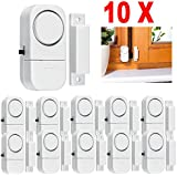 DZT1968 10Pcs Dustproof Wireless Home Window Door Burglar Security Alarm System Magnetic Sensor