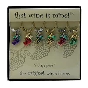 Wine Things WT-1481P Vintage Wine Charms, Painted