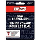 ZIP SIM Prepaid USA SIM For Travelers TALK+TEXT+DATA 7 Days Plan(Universal : Standard, Micro, Nano SIM)