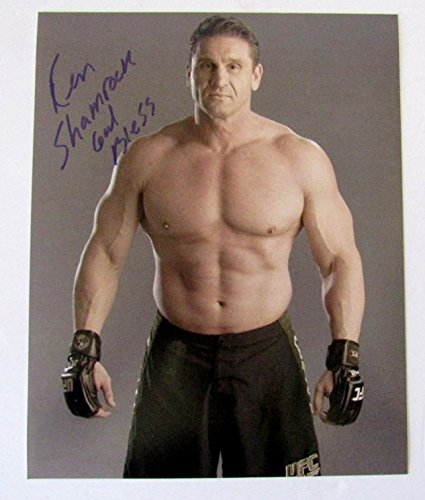 ken shamrock autographed 8x10 photograph at amazon s sports