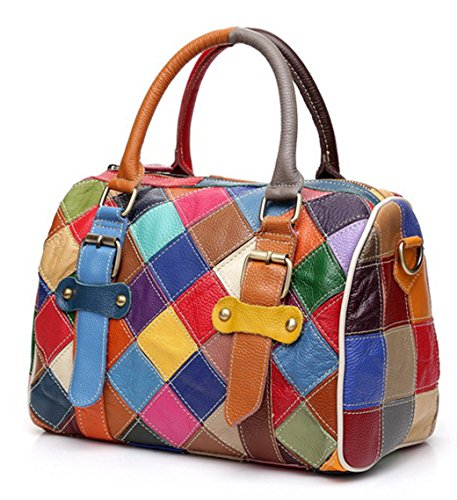 Hobo Borse donne le spalla Floral vera Borse in plaid per colorati Totes multicolore … borse Da Greeniris pelle Crossbody 2 donna T76SSp