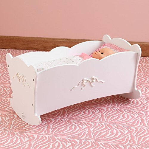 KidKraft Tiffany Bow Cradle Young Girls Will Love Pampering Their Favorite Dolls With The Tiffany Bow Doll Cradle By (Kidkraft Cradle)