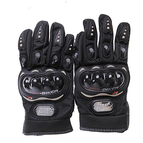 Motocross Racing Pro-Biker Motorcycle Cycling Protective Full Finger Gloves New (Black, L)