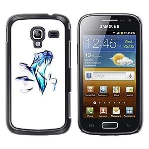 TopCaseStore / la caja del caucho duro de la cubierta de protección de la piel - Raptor Airbrush - Samsung Galaxy Ace 2 I8160 Ace II X S7560M