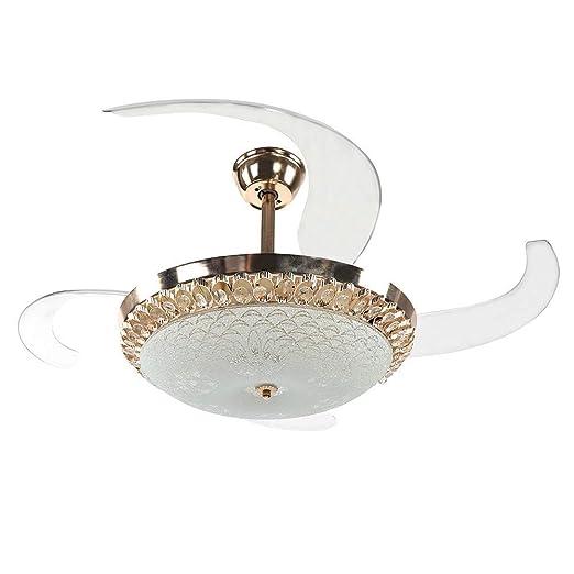 CCLLA Luz de Techo Moderna con Ventiladores Aspas retráctiles de ...