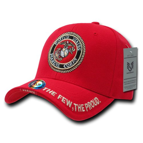 Rapiddominance Marines The Legend Military Cap, Red
