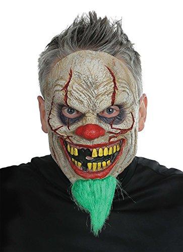 UHC Men's Bad News Clown Monster Horror Theme Party Halloween Costume Mask
