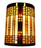 Amora Lighting AM1077WL10 Tiffany Style 2 Light Geometric Wall Sconce Lamp