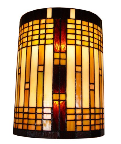Geometric Glass Sconce - Amora Lighting AM1077WL10 Tiffany Style 2 Light Geometric Wall Sconce Lamp