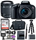 Canon EOS Rebel T7i Digital Camera: 24 Megapixel 1080p HD Video DSLR Bundle with Wide Angle 18-55mm Lens 32GB SD Card Mini Tripod Filter Kit & Flash – Professional Vlogging Sports & Action Cameras Review