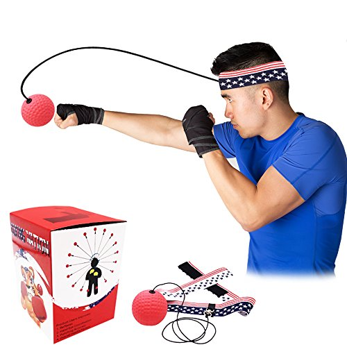 Boxing Nation Boxing Reflex Ball on String for Training to Improve Reactions and Speed, Boxing Ball Equipment for Boxing, MMA and Other Combat Sports, Great for Fitness and Training