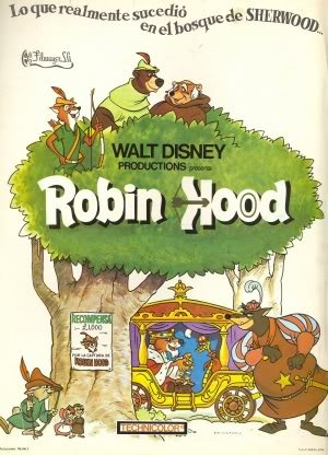 Walt Disney Robin Hood Spanish Imported Movie Wall Poster Print
