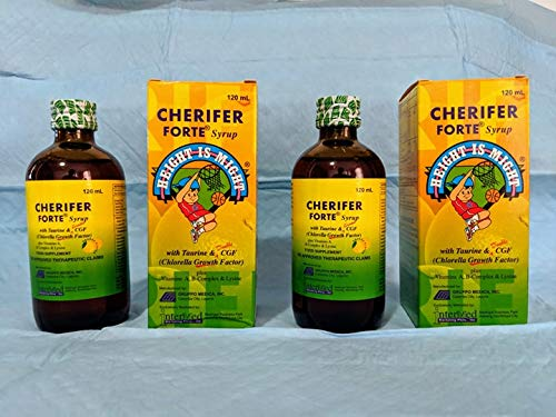 2 Cherifer Forte Syrup (with Lysine; CGF and Taurine) 120 mL