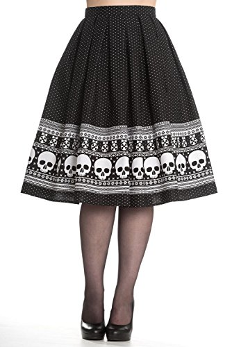 Hell Bunny Clara Rockabilly 50s Skull Skirt (S)