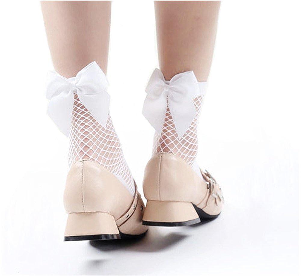4 Paar Damen Fischnetz Söckchen Netz Socken Netzstrümpfe fishnet ankle socks