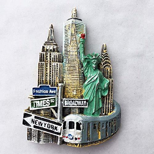 Hongma Imán Nevera Nueva York 6,5cmx9,2cm para Recuerdos de ...