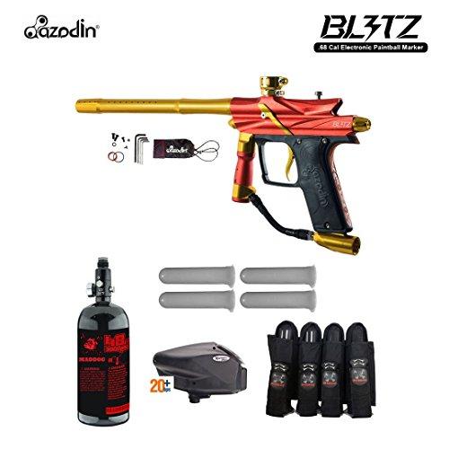 MAddog Azodin Blitz 3 Advanced Paintball Gun Package - - Harness 4+3 Zephyr Sports