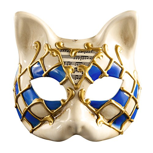 Halloween Animal Mask Venice Kids Half Face Masquerade Mask (Blue) ()
