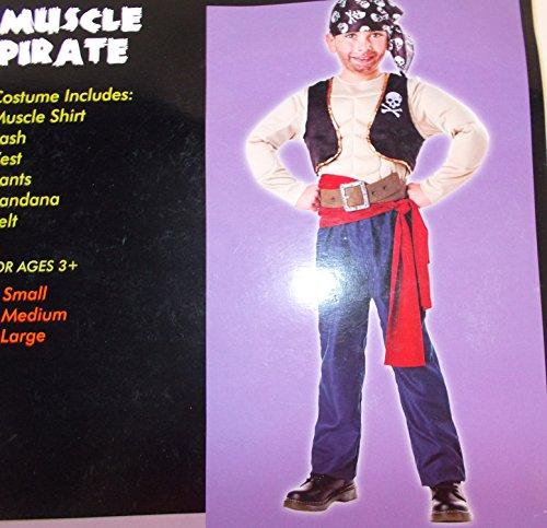 Muscle Pirate Child Costume Sash Bandana Small (Pirate Costume Kmart)