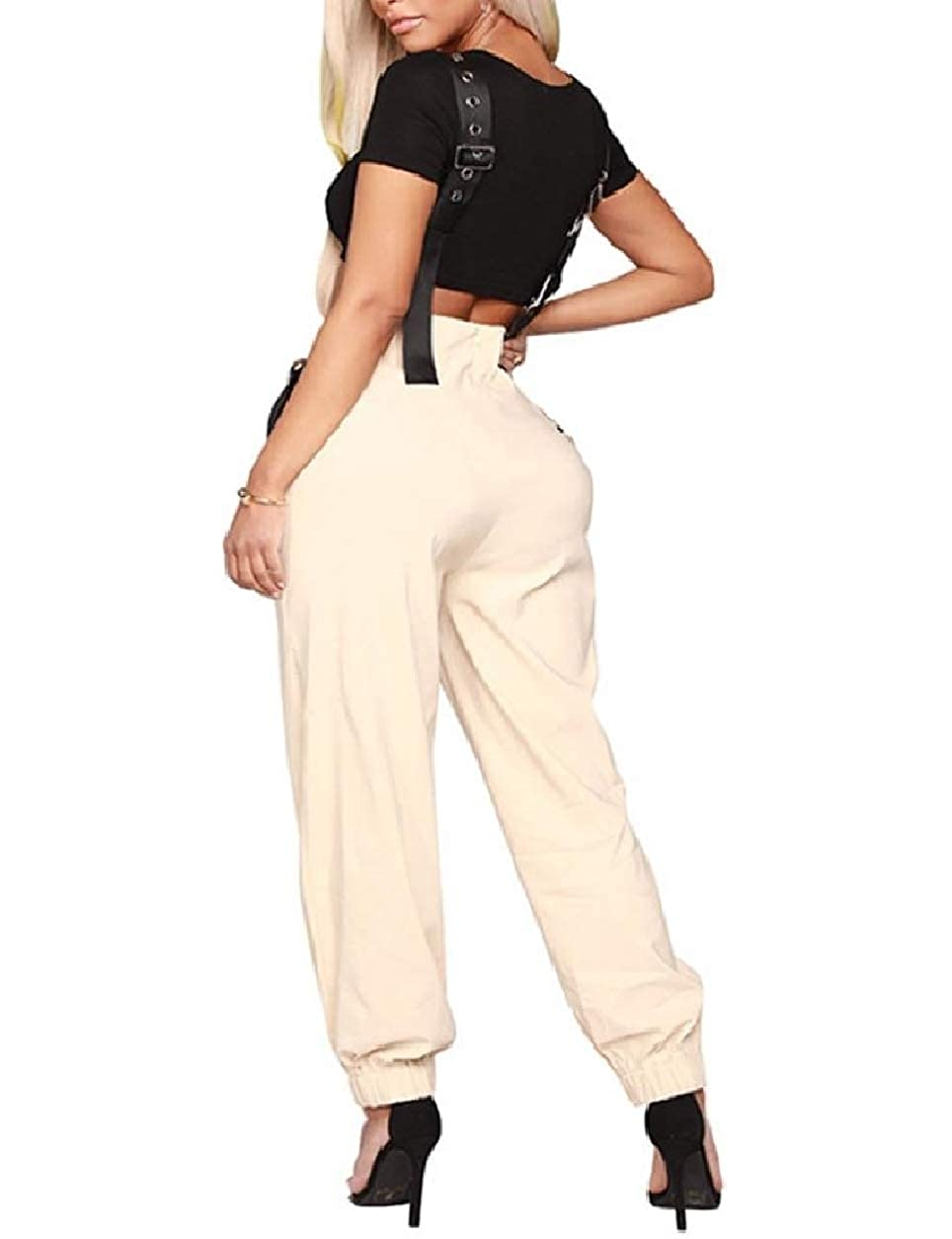 SportsX Womens Slim-Fit with Pockets Baggy Overalls Fall Jumpsuit Pants