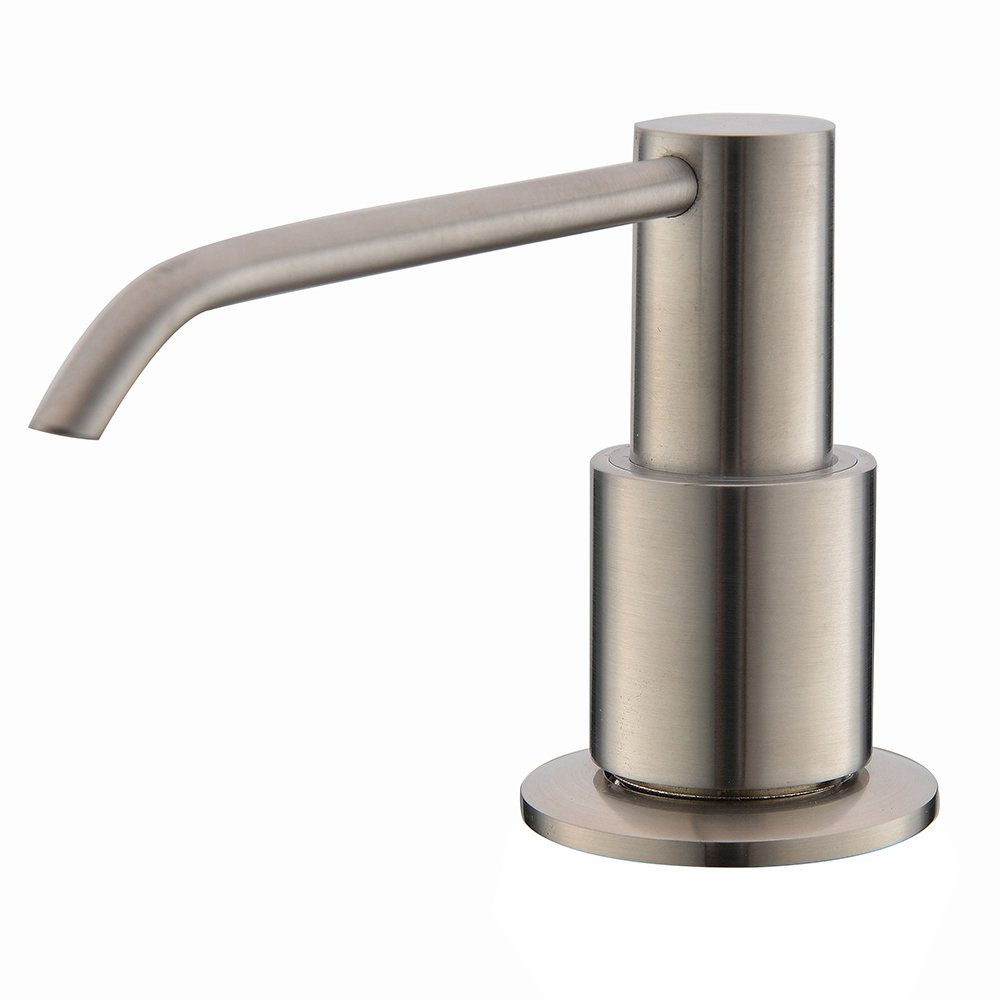 nice Soap Dispensers For Kitchen Sink #1: Comllen Commercial Brushed Nickel Stainless Steel Kitchen Sink Countertop Soap  Dispenser, Built in Hand Soap