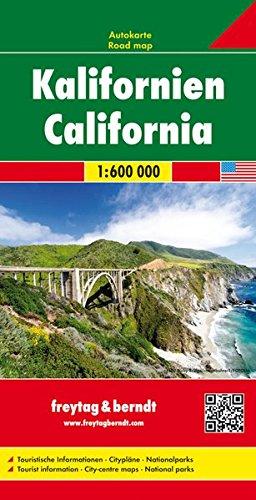Kalifornien, Autokarte 1:600.000, freytag & berndt Auto + Freizeitkarten