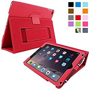 iPad Air (iPad 5) Case, Snugg™ - Smart Cover with Flip Stand & Lifetime Guarantee (Red Leather) for Apple iPad Air (2013)