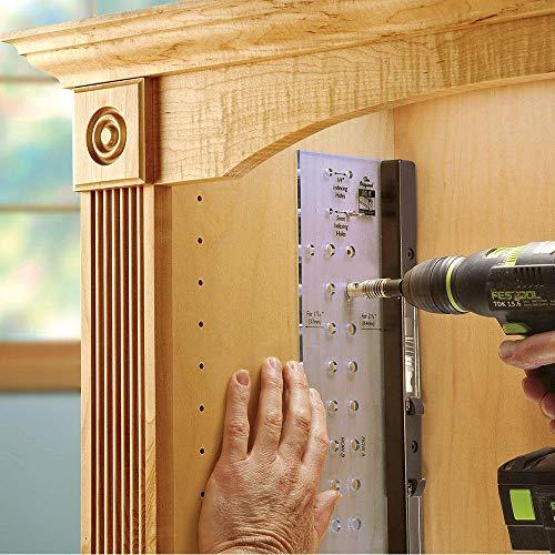 (Rigel Drilling Jig Furniture Cabinet Door Hinge Multi-Function Mounting Locator (A))