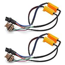 KaTur 2pcs 50W 8ohm 7443 7444NA Led Load Resistors - Fix LED Bulb Fast Hyper Flash for LED Turn Signal Light Blink or LED License Plate Lights Error