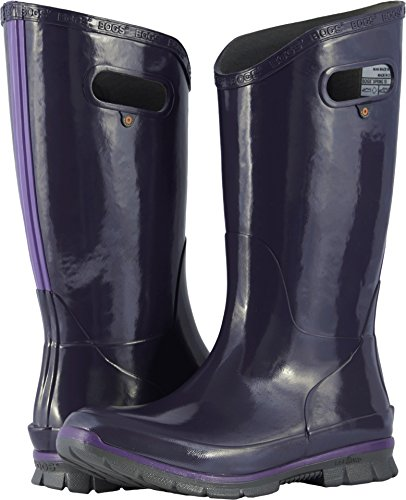 Bogs Women's Berkley Solid Rain Boot, Eggplant, 9 M US