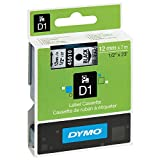 Dymo DYM45010 LabelWriter 450 DUO D1 High-Performance Tape Cartridge, 1/2'' x 23 ft, Black on Clear