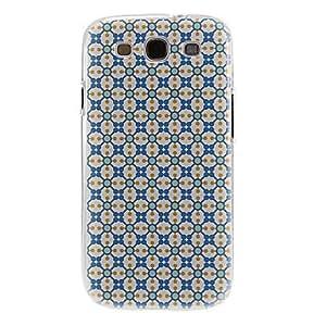 HC-Patrón del enrejado Encadenado caso de la cubierta protectora dura de plástico para el Samsung Galaxy S3 I9300