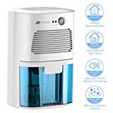 TOUCHXEL Electric Dehumidifier Dehumidifiers for Home 1080 Cubic Feet Portable Dehumidifier for Musty Smell Damp Moisture Air in Small Spaces Like Closet Laundry Room Bathroom Computer Room Office RVs